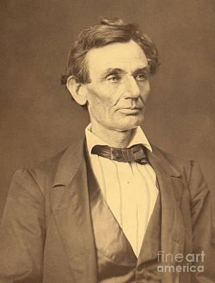 Portrait Of Abraham Lincoln Art Print by Alexander Hesler