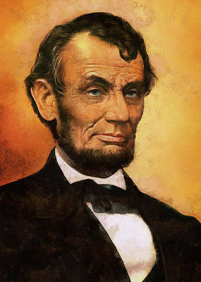 Digital Art - Portrait Of Abraham Lincoln by Charmaine Zoe