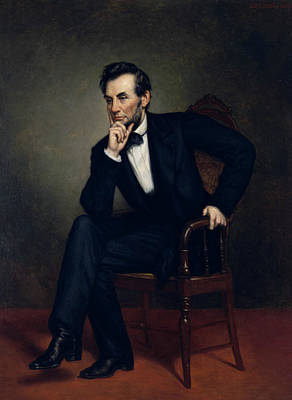 President Painting - Portrait Of Abraham Lincoln by George Peter Alexander Healy
