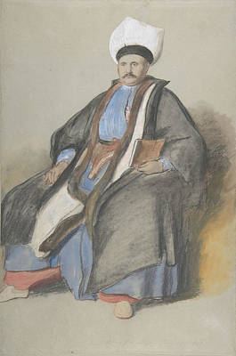 Drawing - Portrait Of Abram Jacob Messir by David Wilkie