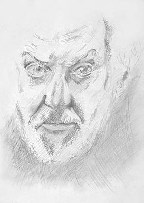 Drawing - Portrait Of Actor by Masha Batkova