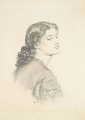 Drawing - Portrait Of Ada Vernon by Dante Gabriel Rossetti