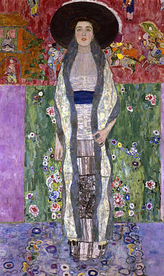 Portrait Of Adele Bloch-bauer II Print by Gustav Klimt