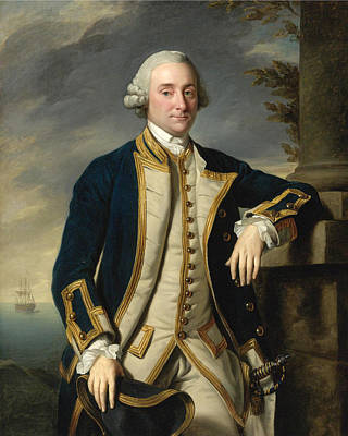 Painting - Portrait Of Admiral Sir Hugh Palliser 1st Bart by Nathaniel Dance