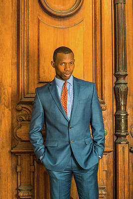 Photograph - Portrait Of African American Businessman In New York 1410052 by Alexander Image