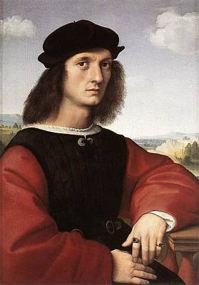 Raffaello Santi Painting - Portrait Of Agnolo Doni - 1506 by Raphael