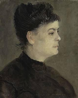 Painting - Portrait Of Agostina Segatori Paris  January  February 1887 Vincent Van Gogh 1853  1890 by Artistic Panda