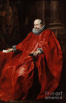 Boucher Painting - Portrait Of Agostino Pallavicini By Anthony Van Dyck by Esoterica Art Agency