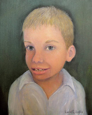 Painting - Portrait Of Aidan by Loretta Luglio