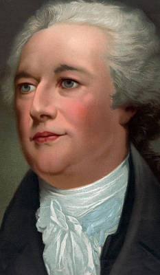 Politics Painting - Portrait Of Alexander Hamilton by Unknown