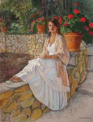 Painting - Portrait Of Alitta by Sue Halstenberg