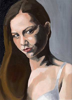 Painting - Portrait Of Amanda by Stephen Panoushek