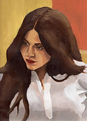 Painting - Portrait Of Amelia by Stephen Panoushek
