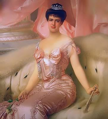Tiara Painting - Portrait Of Amelie D'orleans by Mountain Dreams