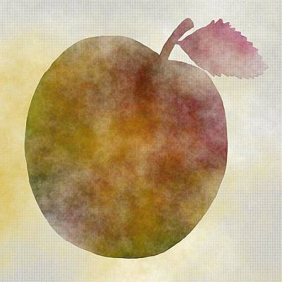 Food Art Digital Art - Portrait Of An Apple by Kathleen Sartoris