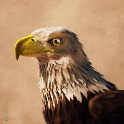Digital Art - Portrait Of An Eagle by Daniel Eskridge