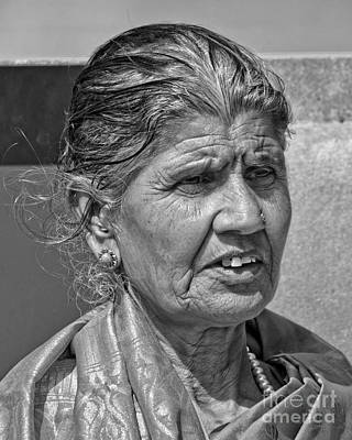 Photograph - Portrait Of An Elderly East Indian Woman II by Jim Fitzpatrick