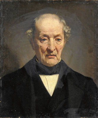 Painting - Portrait Of An Elderly Gentleman by Fritz Georg Papperitz