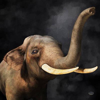 Animals Digital Art - Portrait of an Elephant by Daniel Eskridge