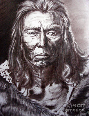Worthy Painting - Portrait Of An Indian Chief by Marina Seredyuk