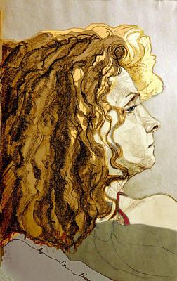 Painting - Portrait Of An Irish Redhead by Greta Corens