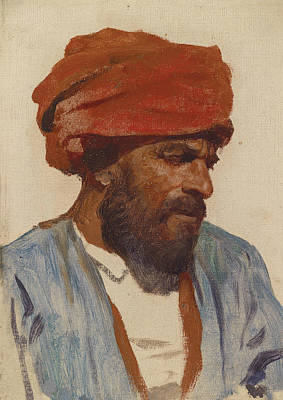 Painting - Portrait Of An Oriental Man by Leopold Muller