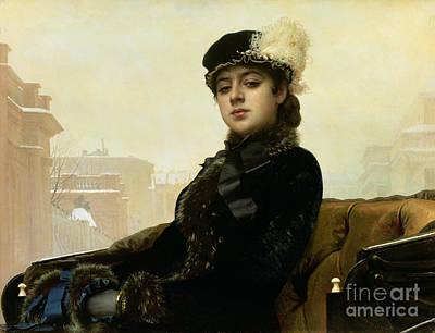 Portrait Of An Unknown Woman Art Print by Ivan Nikolaevich Kramskoy