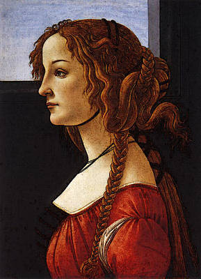 Digital Art - Portrait Of An Young Woman  by Sandro Botticelli