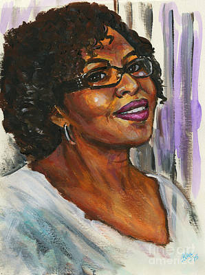 Painting - Portrait Of Angela By Alga Washington by Angela L Walker