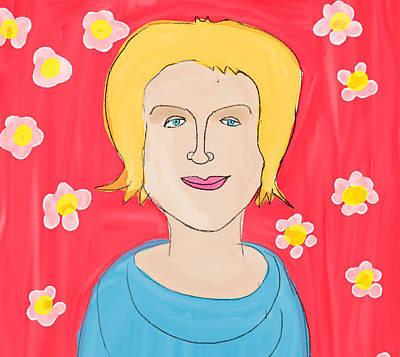 Dear Friend Drawing - Portrait Of Ania by Maciej Mackiewicz
