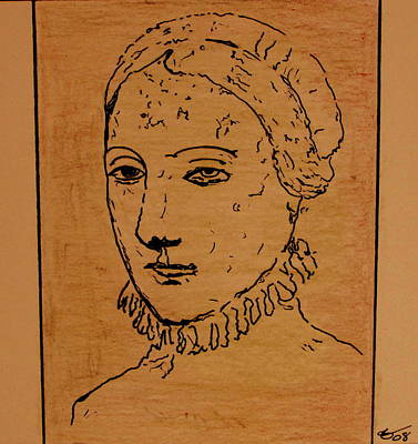 Drawing - Portrait Of Anne by Bill OConnor