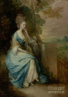 Airforce Painting - Portrait Of Anne, Countess Of Chesterfield By Thomas Gainsborough by Esoterica Art Agency