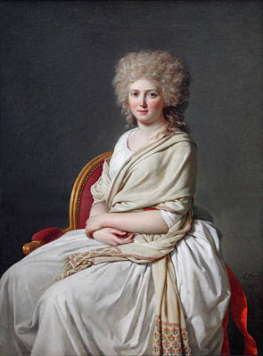David Painting - Portrait Of Anne-marie-louise Thelusson, Countess Of Sorcy by Jacques-Louis David