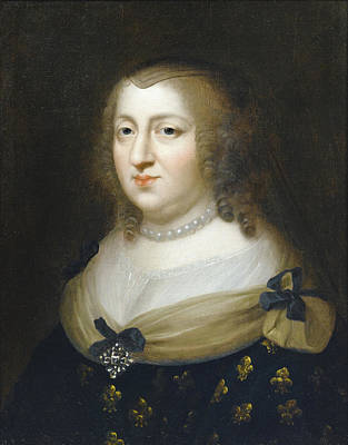 Painting - Portrait Of Anne Of Austria by Attributed to Charles Beaubrun