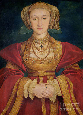 Portrait Of Anne Of Cleves  Art Print by Hans Holbein