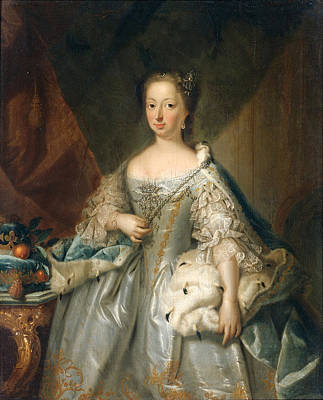 Painting - Portrait Of Anne Of Hanover Princess Royal And Princess Of Orange Consort Of Prince William Iv by Attributed to Johann Valentin Tischbein