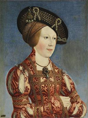 Bohemia Painting - Portrait Of Anne Of Hungary And Bohemia, Hans Maler by Celestial Images