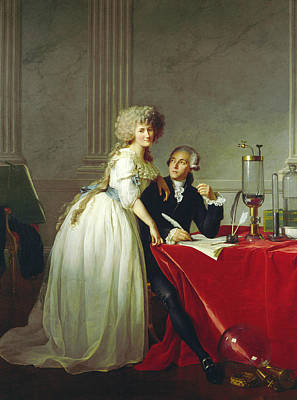 Painting - Portrait Of Antoine-laurent Lavoisier And His Wife by Jacques-Louis David