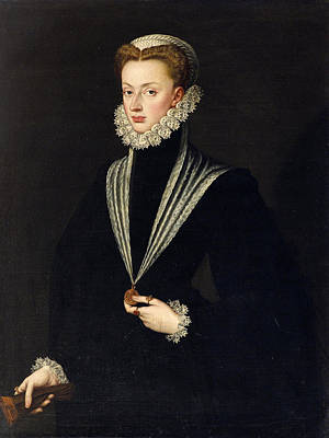 Painting - Portrait Of Archduchess Johanna Of Austria by Sofonisba Anguissola