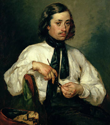 Portrait Of Armand Ono Print by Jean-Francois Millet