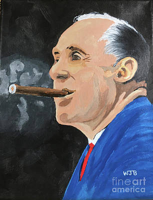 Portrait  Of Arnold Red Auerbach Original by William Bowers