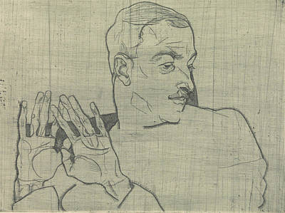Relief - Portrait Of Arthur Roessler by Egon Schiele