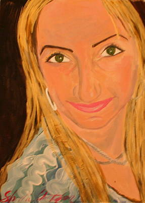 Portrait Of Artists Agnes  Art Print by Shellie Gustafson