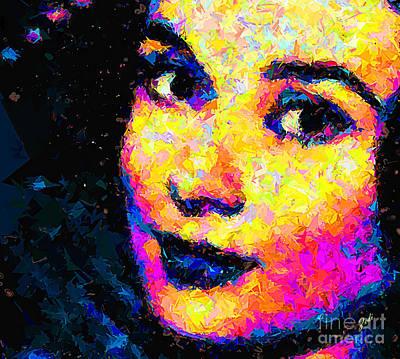 Painting - Portrait Of Audrey Hepburn by Zedi
