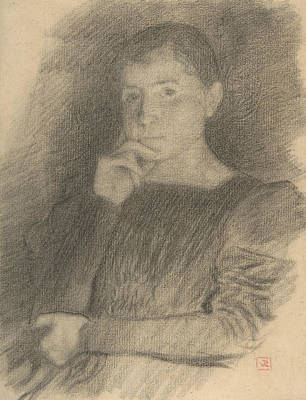 Drawing - Portrait Of Augustine De Rothmaler by Theo Van Rysselberghe