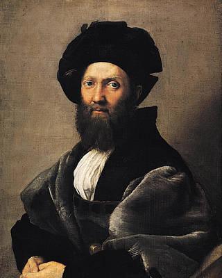 Raffaello Santi Painting - Portrait Of Baldassare Castiglione - 1514-15 by Raphael