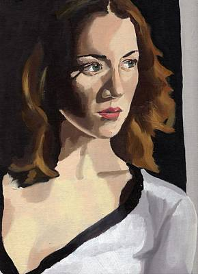 Painting - Portrait Of Becca by Stephen Panoushek