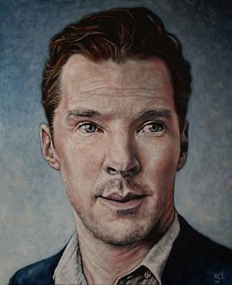 Portrait Of Benedict Cumberbatch Original by Harrison Larsen
