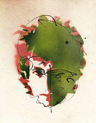 Famous Stencils Painting - Portrait Of Bob Dylan by Ryan  Hopkins
