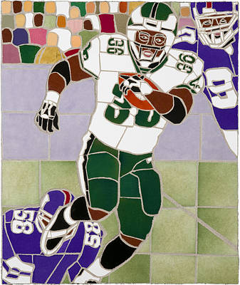 Ceramic Mixed Media - Portrait Of Brian Westbrook by Jonathan Mandell